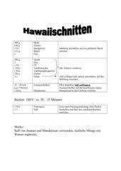 Hawaiischnitten