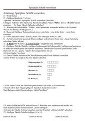 Schifferl versenken (Spielplan mit Word 2010)