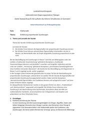Stundenentwurf proportionale Zuordnungen
