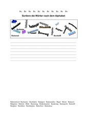 Wörter nach dem Alphabet sortieren