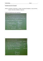 Verdunstung - Schülerversuch und Arbeitsblatt