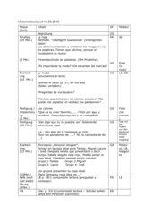 Unterrichtsentwurf  Lektionstext Lektion 4B, ENCUENTROS Nueva Edición