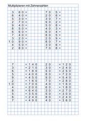 Multiplizieren mit Zehnerzahlen