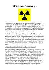 6 Fragen zur Atomkraft - erklärt für Schüler