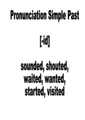 Lernplakate Aussprache der Simple Past Formen