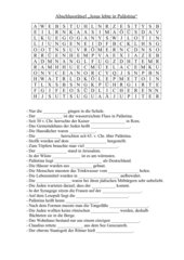 Jesus lebte in Palästina - Abschlussrätsel / Suchsel