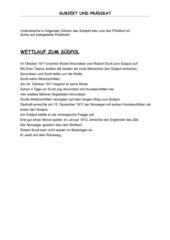 Übungsblatt: Subjekt und Prädikat - 4 Fälle des Nomens