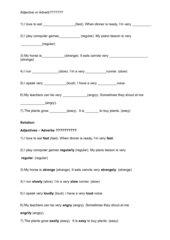 Adjectives or Adverbs Klasse 6 Gymnasium