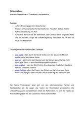Reformation - Was ist das überhaupt?