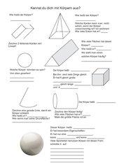 Geometrische Körper in der Grundschule