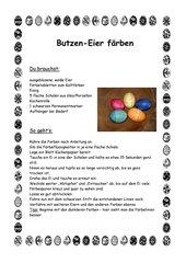 Anleitung zum Färben von Butzen-Eiern
