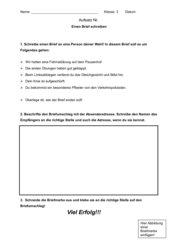 Aufsatz - Einen Brief schreiben