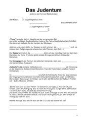 Judentum Zusammenfassung 7. Schulstufe