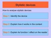 Präsentation stylistic devices