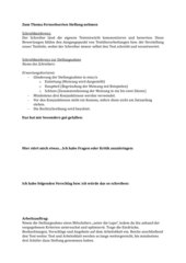 Schreibkonferenz Stellungnahme