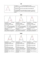 Konstruktionsbeschreibungen kongruente Dreiecke