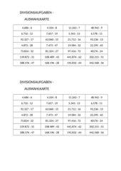 Schriftliche Divsion durch große Zahlen