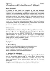 Anleitung Projektarbeit