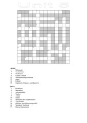 Crossword unit 5