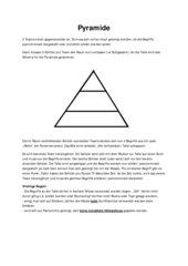 Spiel Pyramide Vertretungsstunde (Pantomime)