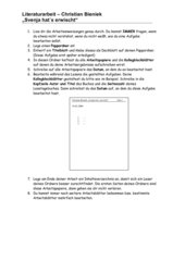 Lesetagebuch Svenja hat´s erwischt - Christian Bieniek