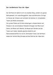 Diktat- Der berühmteste Pass der Alpen