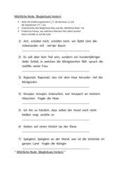 Wörtliche Rede (Begleitsatz hinten) / Märchenzitate