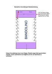 Bandolino - Grundkörper +  2 Blankovorlagen