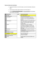 Teile des Anschreibens bzw. Bewerbungsschreibens