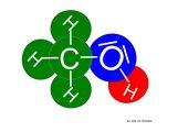 Tafelmodelle Methanol- und Wassermoleküle