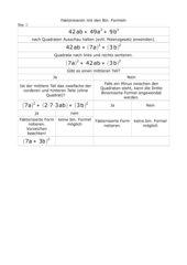 Faktorisieren mit Binomischen Formeln