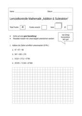 Schriftliche Addition / Subtraktion