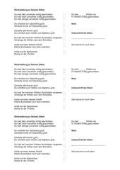 Rückmeldebogen für Diktate
