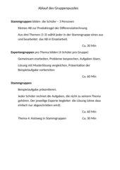 Partielle Integration – LK – Gruppenpuzzle