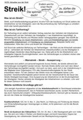 Streik - kurzer Einführungstext zum Arbeitskampfrecht