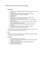 Anforderungen GFS Deutsch: Autorenvorstellung