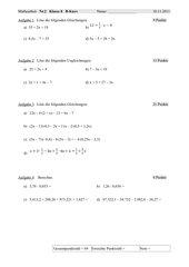 Gleichungen und Ungleichungen mit/ohne Klammern