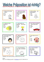 Adjektive mit Präpositionen