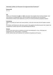 Einfluss von Parametern bei trigonometrischen Funktionen