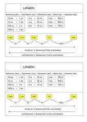 Einheiten der Länge (Klasse 4)