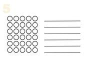 Zahlzerlegung 5-10 mit Wendeplättchen: Arbeitsblätter