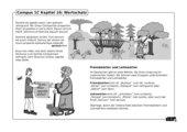 Illustrierte Wortschatzübung zu Campus 1, Ausgabe C, Kapitel 16