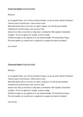 Fehlertext: Génération Pro Débutants (Lektion 1-3)