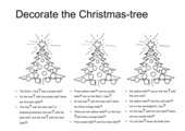 Decorate the Christmas tree (leicht)