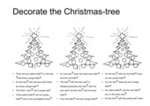Decorate the Christmas tree (schwerer)