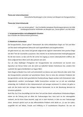 Entwurf: Kurzgeschichten Nils Mohl, Kl. 10/11, innerer Monolog/ Standbild