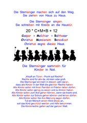 Sternsinger 2012 - Klopft an Türen, pocht auf Rechte