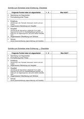 Checkliste zur Erörterung