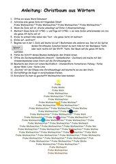 Weihnachtsbaum aus Buchstaben