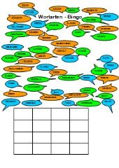 Wortarten-Bingo